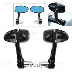2x CNC 7/8'' 22mm Motorcycle Triumph Speed Triple Bar End Rearview Side Mirrors