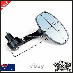 Alloy Black Motorcycle Bar End Mirrors 7/8 DUCATI MONSTER EVO 620 695 696 795