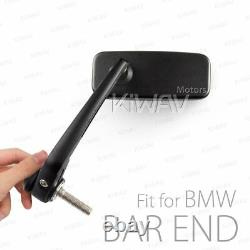 Bar End Mirrors Rectangle Classic Black M12 Bolt-on for BMW S1000R