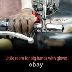 Bar end mirror BOB black round short stem 5mm bolt-on fits Triumph Bonneville