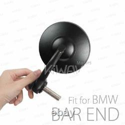 Bar end mirror BOB black rounded anti-glare M12 for BMW R nine T Scrambler Urban