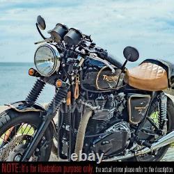 Bar end mirror black eclipse round 5mm bolt fits Triumph motorcycles