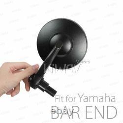 Bar end mirrors BOB black round short 16mm fits Yamaha FZ1 FZ6 FZ10 XSR900