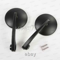 Bar end mirrors Eclipse black fits Moto Guzzi V7 III Milano threaded OEM bar