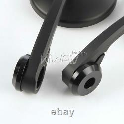 Bar end mirrors Eclipse round black 8mm bolt on fits Indian FTR 1200 Springfield