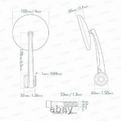 Bar end mirrors black eclipse round 12mm bolt-on fits BMW F 800 R HP4 S 1000 R