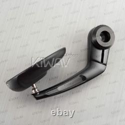 Bar end mirrors black retro round 12mm bolt-on fits BMW R nineT Scrambler Urban