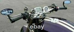 Blue Glared Lens 22mm Handle End Bar Rear View Mirrors For Kawasaki Honda Ducati