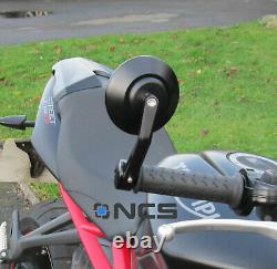 CNC Aluminium Round Bar End Mirrors Ducati Diavel Genuine NCS pair