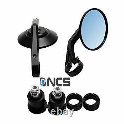 CNC Round Aluminium Bar End Mirrors Triumph Street Triple 765 Genuine NCS pair