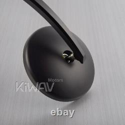 Eclipse round bar end mirror black for Triumph Bonneville 17-up T100, 16-up T120