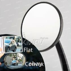 Eclipse round black bar end mirrors motorcycle hollow bar 7/8 1 1-1/4
