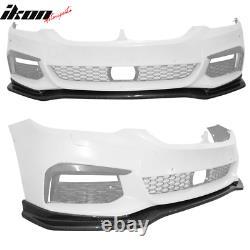 Fits 17-20 BMW G30 5 Series M Sport Front Bumper Lip Real Carbon Fiber