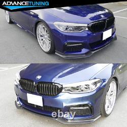 Fits 17-20 BMW G30 5 Series M Sport Front Bumper Lip Real Carbon Fiber CF