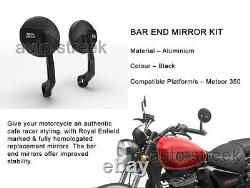 Genuine Royal Enfield Meteor 350 Bar End Mirrors Homologated