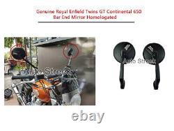 Genuine Royal Enfield Twins GT Continental 650 Bar End Mirror Homologated