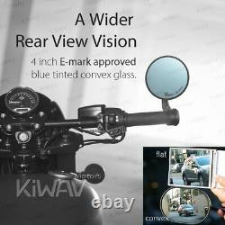 KiWAV Motorcycle Bar End Mirrors Bob Black for Husqvarna VITPILEN 701 2018