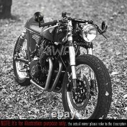 KiWAV Motorcycle Bar End Mirrors Bob Black for Kawasaki Vulcan S EN650 2017-2020