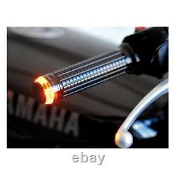 Kit 2 Frecce Led Bar End MOTOGADGET M-BLAZE Disc Black Cafe Racer MANUBRIO NERE