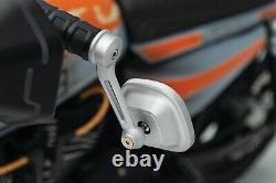 Kuryakyn 6657 Black Dillinger Bar End Mirrors 1 7/8 Harley Metric Universal
