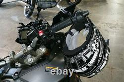 Lidlox Item 8280 Bar End Helmet Lock Pair for Yamaha FJ09, Black