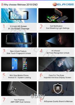 Mini 4G Smartphone Melrose 2019END 3.5'' Small Size 1GB+8GB 2000mAh GPS Face ID