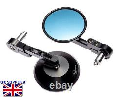 Motorbike Mirrors Handlebar End Rear Side View for 7/8 22mm Bars inc. Renthal