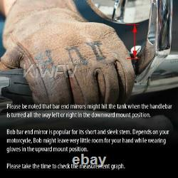 Motorcycle Bar End Mirrors Bob Black M12 Bolt Anti-Glare for BMW S 1000 R