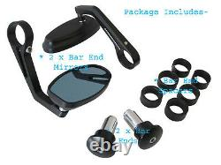 Motorcycle Handle Bar End Mirrors fits Triumph Speed Street Triple Models PAIR