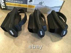 New Thule 450 Crossroad Railing Rapid System Foot (3) & Bar Ends