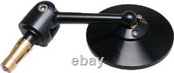 Oberon Adjustable Bar End Mirror for 1 inch bar BLACK NEW one mirror