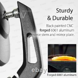 Round bar end mirror BOB black fits Triumph Bonneville 17'-up T100, 16'-up T120