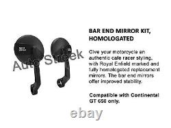 Royal Enfield Bar End Mirror kit & Bar end Finisher Fit For Continental GT 650