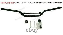 Royal Enfield Braced Handlebar & Machined Bar end finisher kit For Himalayan