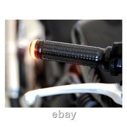 Set 2 Indicators LED BAR End Motogadget M-BLAZE Disk Black Cafe Racer Handlebar