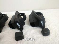 Set of 4 Thule 450 Crossroad Railing Foot Pack for Square Bars With End Caps