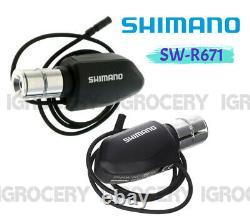 Shimano Di2 SW-R671P TT Bar-end Shifter Set Aero Bar L+R New