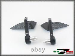 Strada 7 Racing CNC Aluminium Bar End Mirrors For 1999 2009 Suzuki SV650 / S
