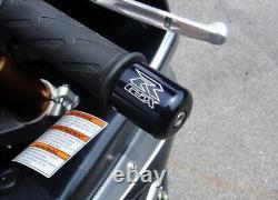 Suzuki GSX-R Engraved BLACK Bar Ends / Sliders GSXR 600 750 1000 1100